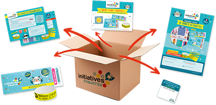 Kit carnet d'étiquettes Initiatives